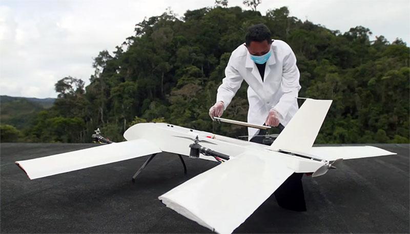 vayu drone dealivering blood samples